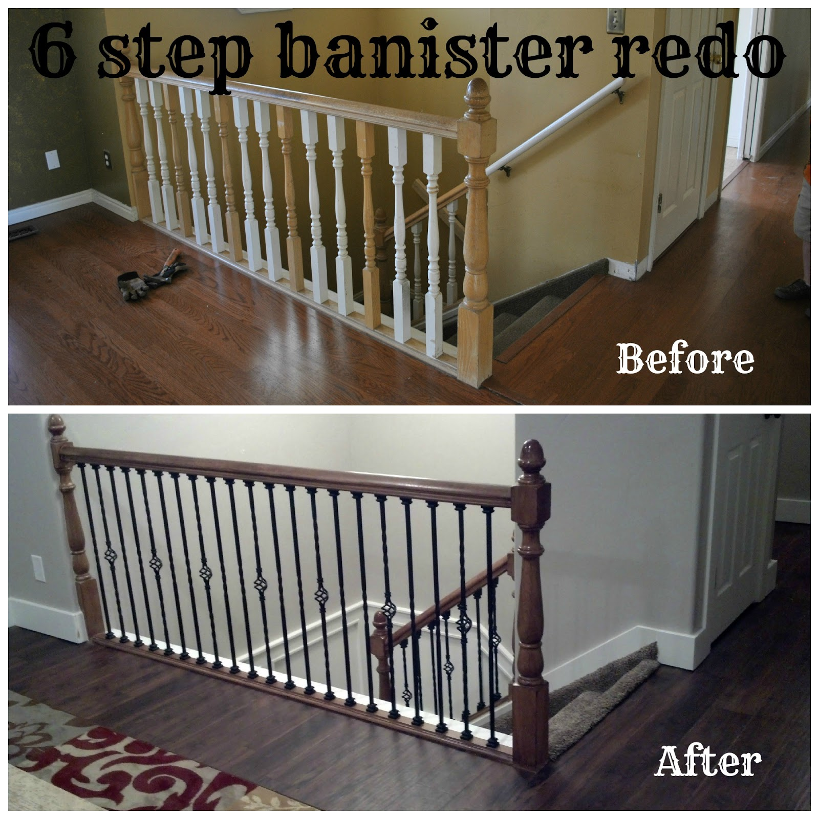 6 step banister redo bits of everything for Ideas for redoing stairs