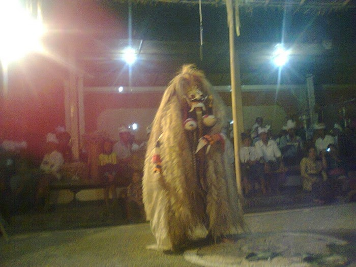 Rangda mask dance in Bali Indonesia