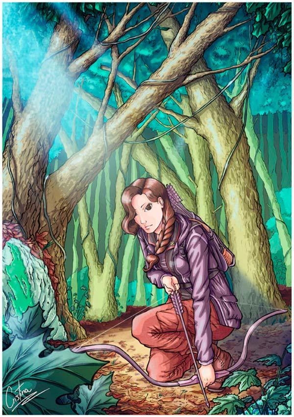 Ilustración, Los juegos del hambre de Cristina Aguilera
