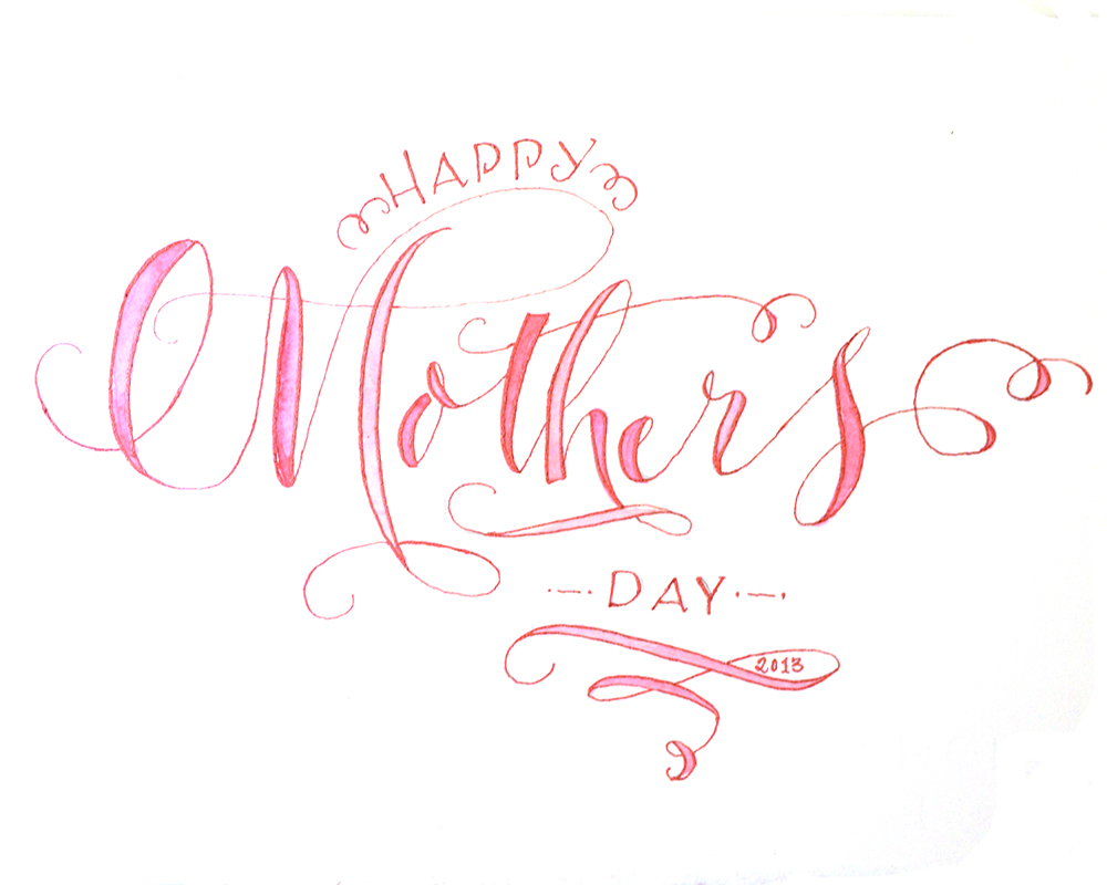 Russian calligraphy i love my mom mother s day calligraphy black