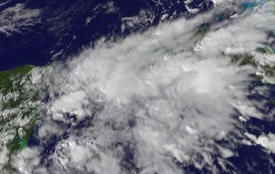 Nanu, wo ist denn Cancún? - Schlechtwettergebiet vor Riviera Maya auf Yucatán, Cozumel, Yucatán, Playa del Carmen, Cancún, Mexiko, Wettervorhersage Wetter, aktuell, Satellitenbild Satellitenbilder, Radar Doppler Radar, Oktober, 2011,