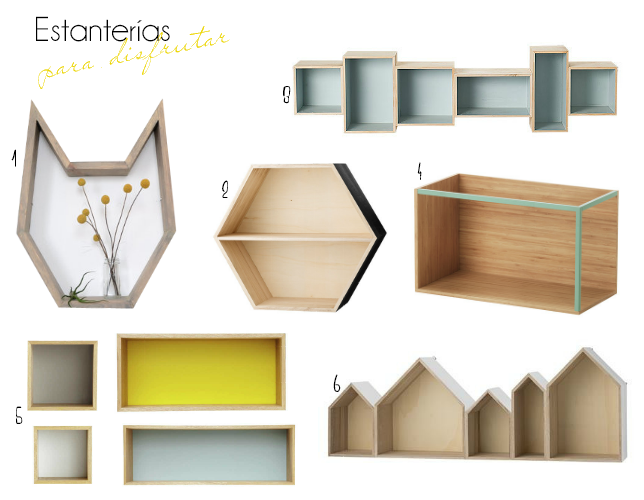 Estanter as diferentes selecci n de compras decoraci n for Estanterias estilo escandinavo