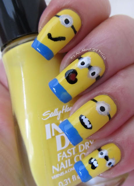 Aussie Nails Monday - movie theme - Minions