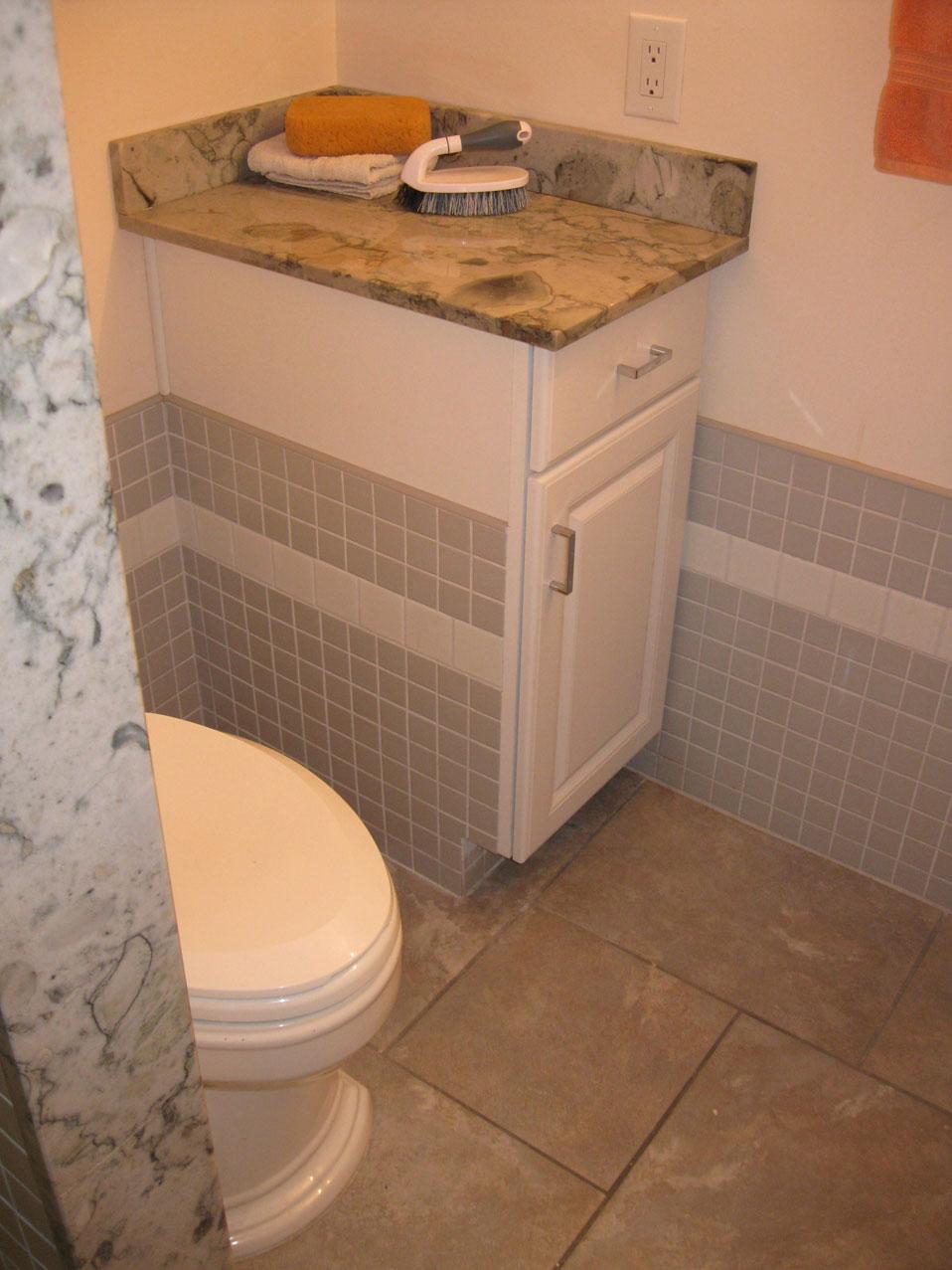 Copper Rust Slate Tile Bathroom Home Improvement