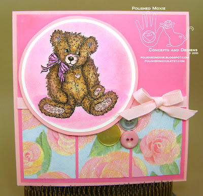 Picture of the front of the teddy bear birthday card