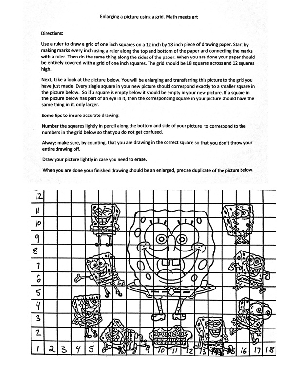 Worksheets Draw Art Transformations Free Worksheet the helpful art teacher how to create and use a drawing grid grid