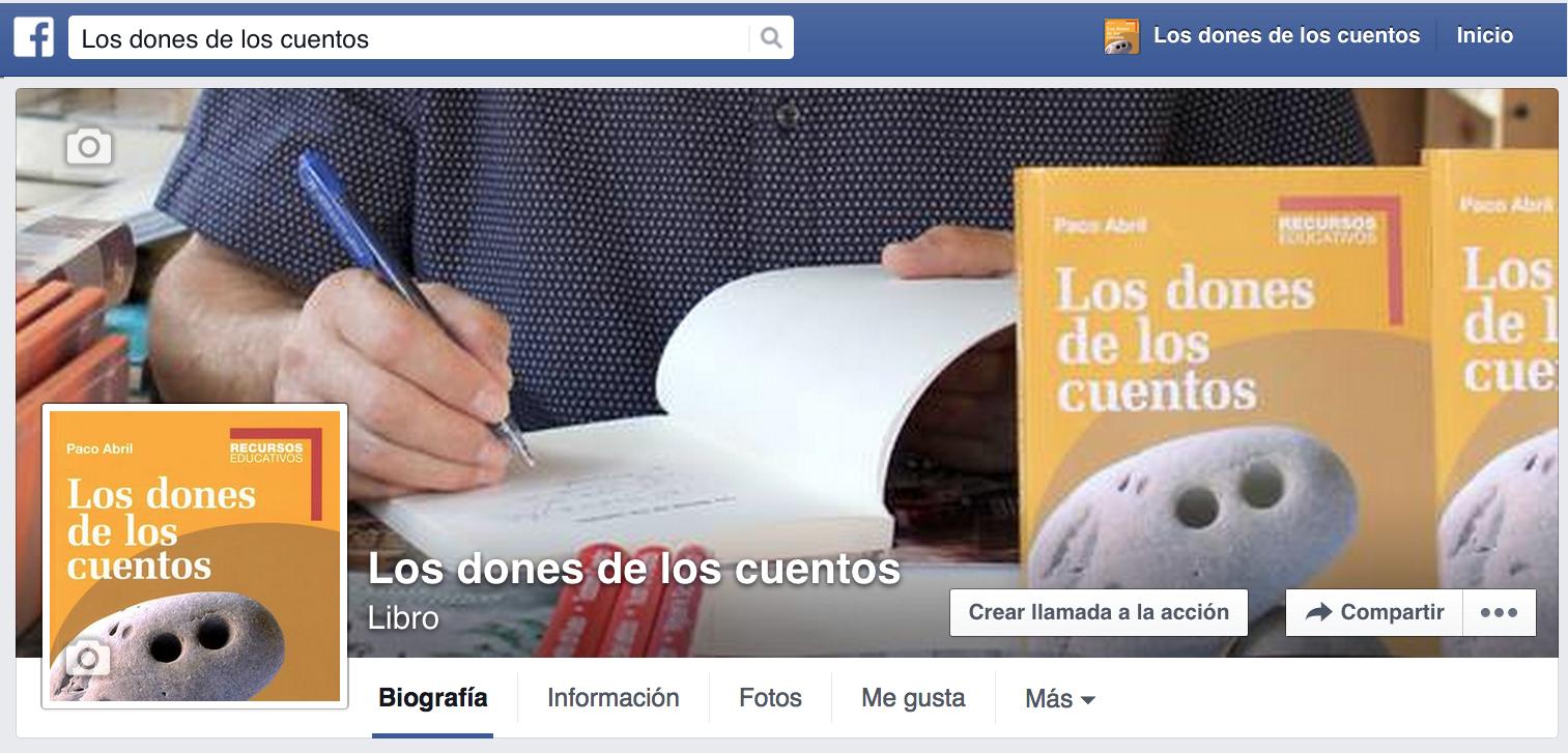 """Sigue a """"Los dones de los cuentos"""" en Facebook"""
