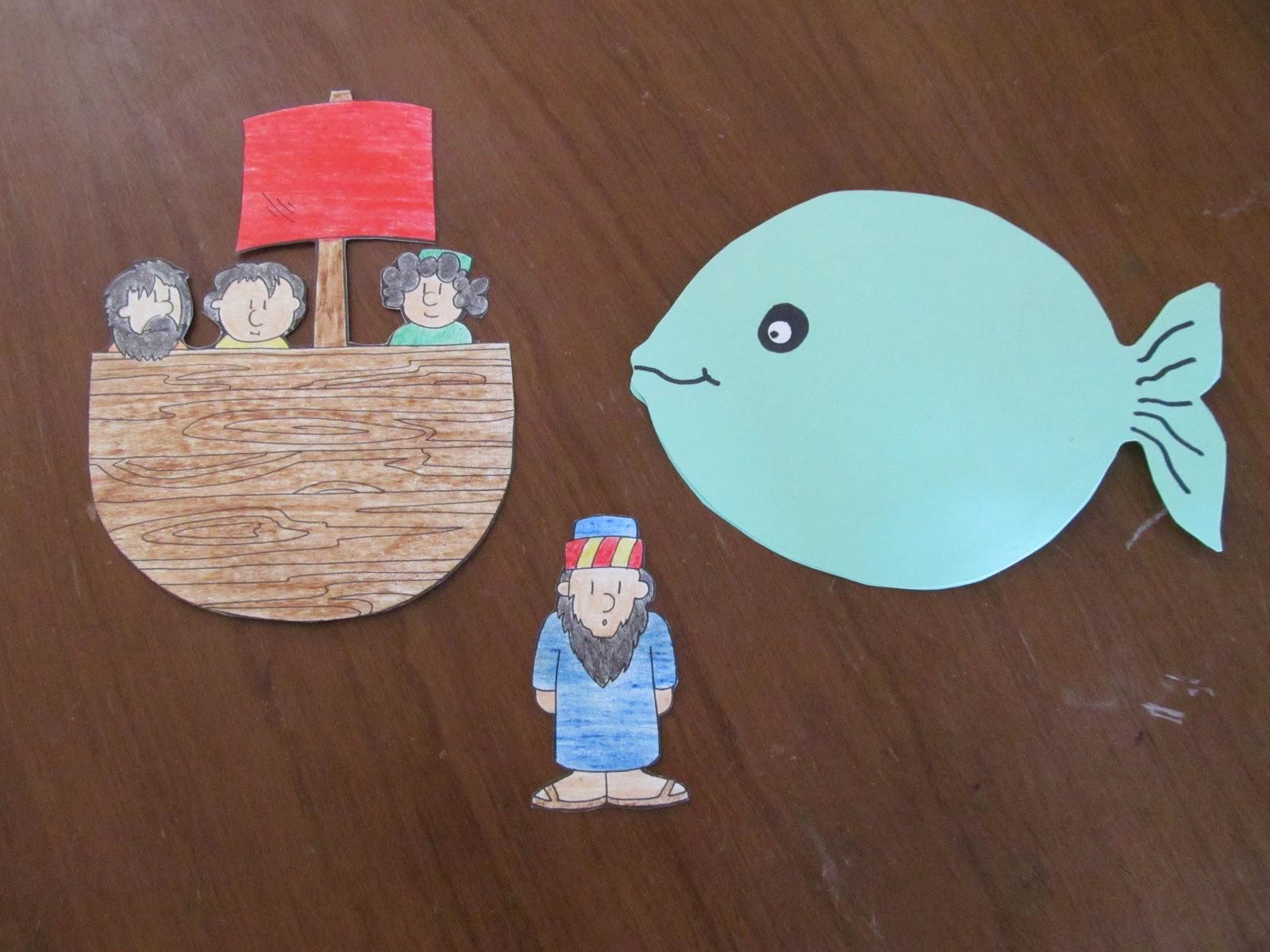 Jonah sunday school craft - Lesson 19 Jonah And The Big Fish Supplies Bible