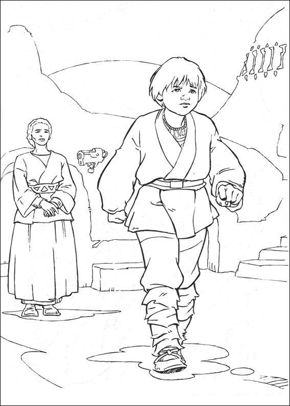 imagens para colorir star wars - Desenhos de Star Wars Guerra nas Estrelas para colorir