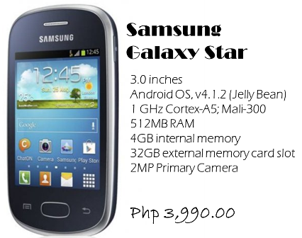 samsung galaxy star price philippines - photo #1