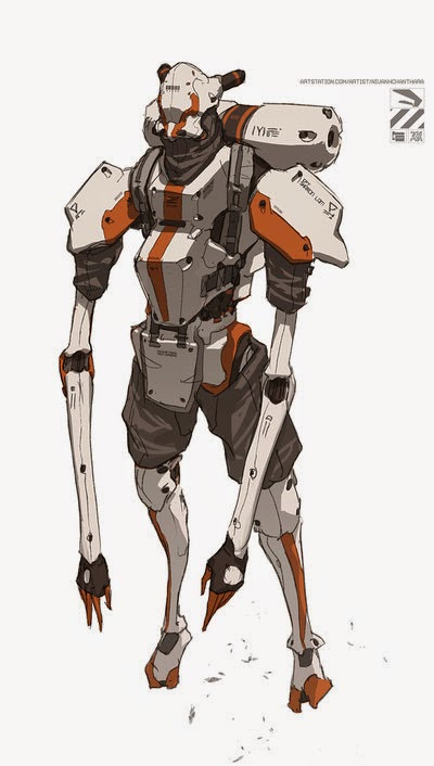 Character Design London : Nuthin but mech floating dudes