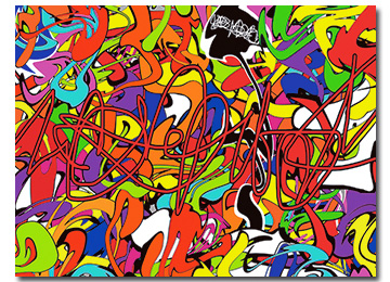 urban art, graffiti, wall art, canvas art, contemporary, modern, multi coloured,