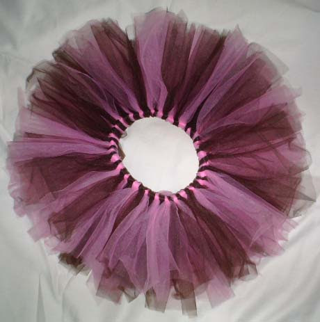Little Girls Pink and Brown Tutu