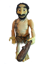 caveman latex puppet with foam stick