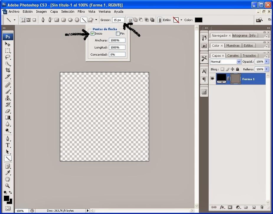 Como hacer un triángulo con photoshop | jQuery Manual