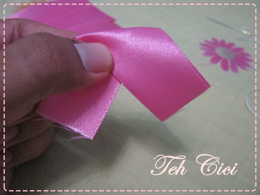 TEH CICI: Tutorial Bros Bunga Cantik Dari Pita