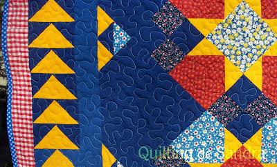 """Quilt """"Estrellas del Sur"""" detalle orilla"""