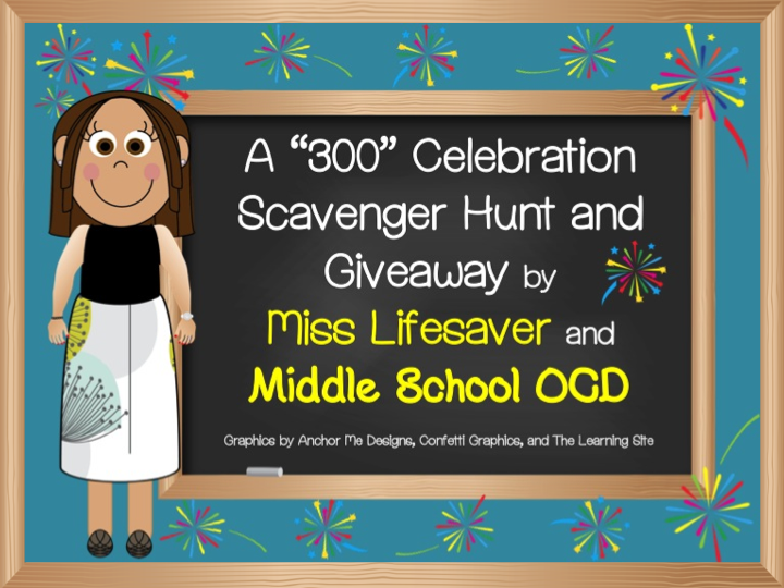 http://middleschoolocd.blogspot.com/2014/01/300-celebration-scavenger-hunt-and.html
