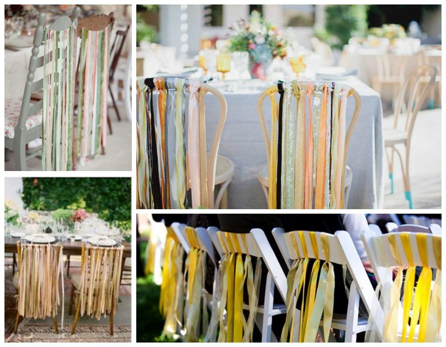 Decoraci n f cil decorar con telas las sillas para una boda - Decorar pared con tela ...