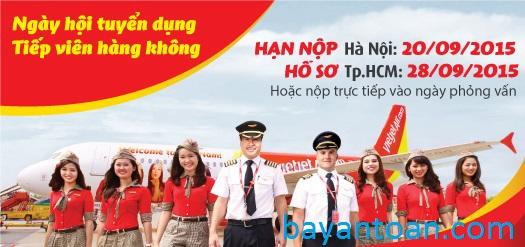 Ngày hội tuyển dụng tiếp viên của Vietjet