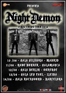 NIGHT DEMON SPANISH TOUR