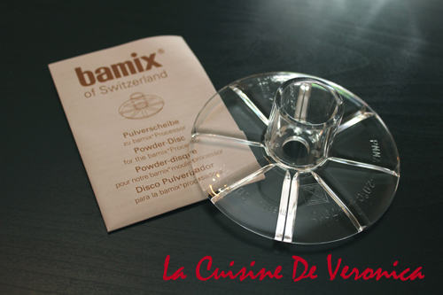 La Cuisine De Veronica Bamix Powder Disc