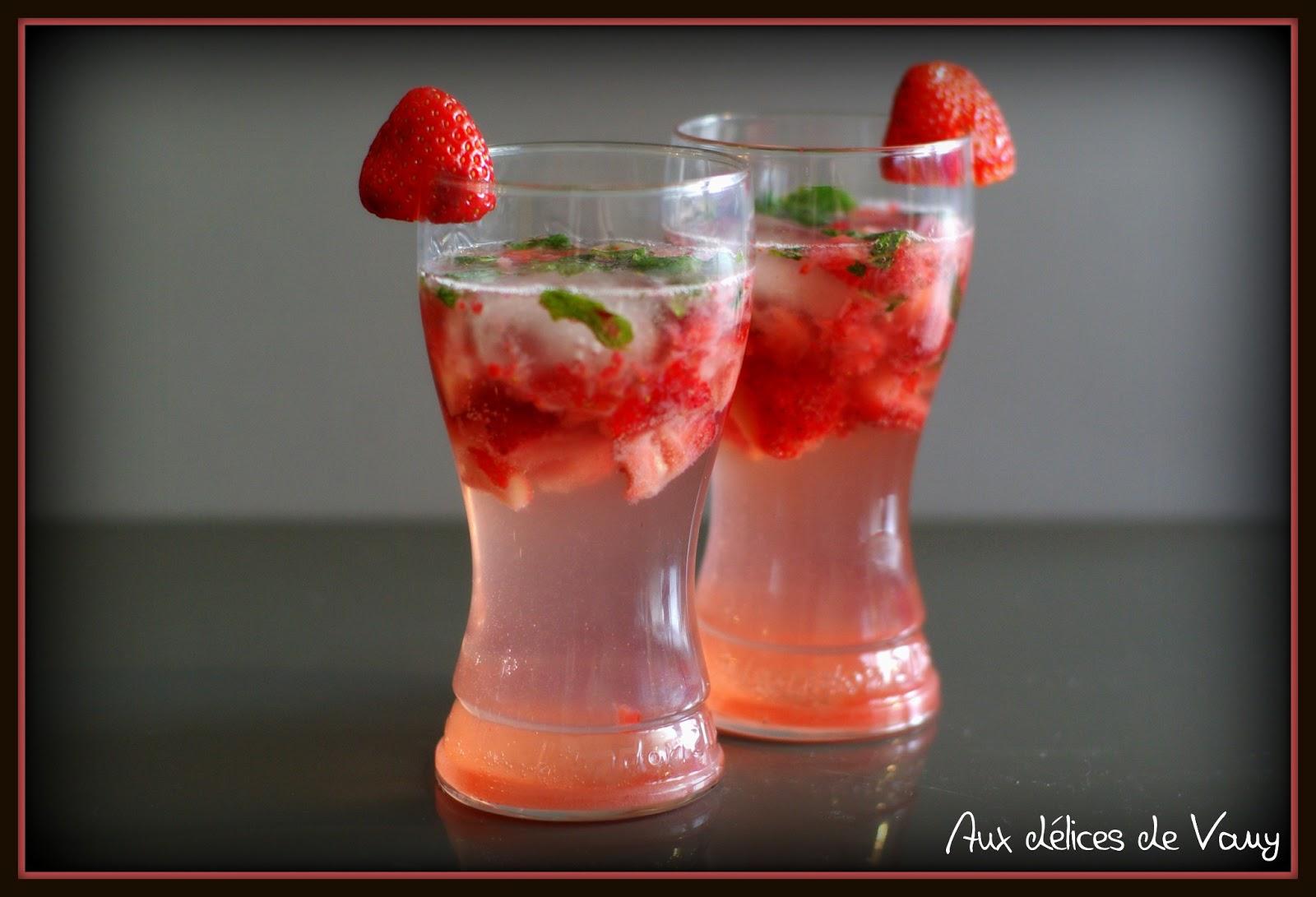 Virgin mojito la fraise - Recette mojito fraise pour 10 personnes ...