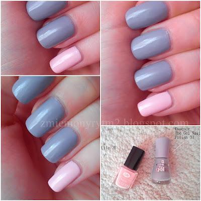 NOTD: Pink & Grey