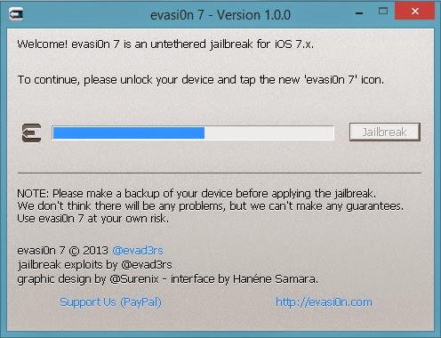 Evasi0n7 Jailbreak : Cydia Apple
