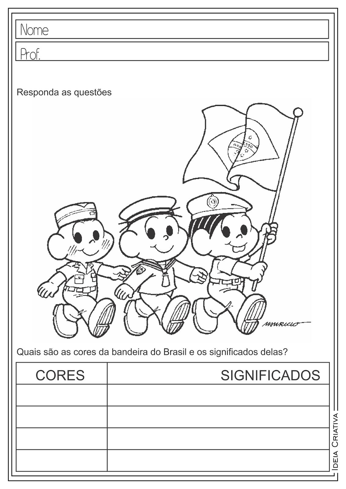 Atividades Educativas Dia da Bandeira - Semana da Pátria - Dia da Independência para Ensino Fundamental