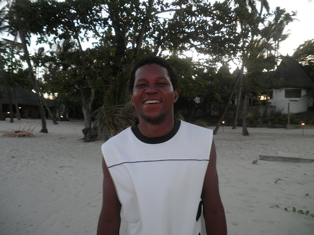 A beach boy on Tiwi Beach, Kenya