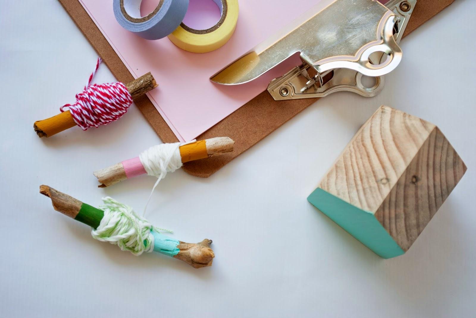 Imagen DIY con palos