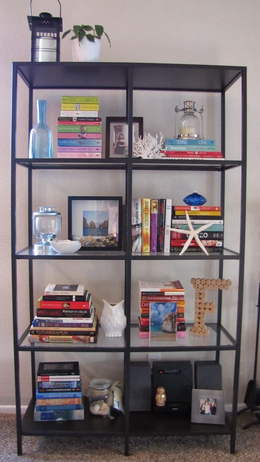 Adventures in diy living room update my new ikea vittsjo for Ikea bookends uk