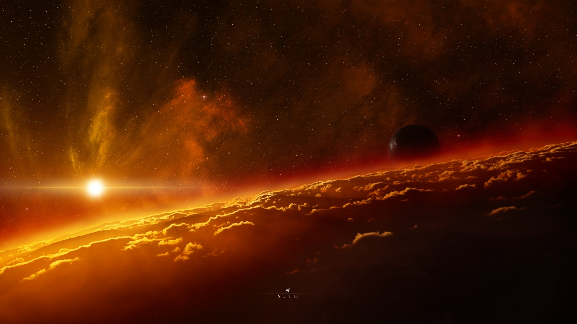 Outer space planets digital art artwork high definition for Outer space planets