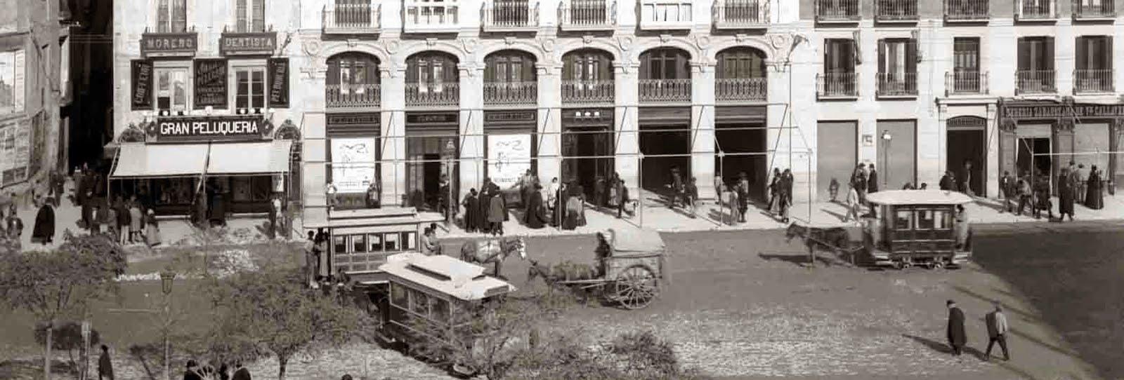 Zaragoza en tranvía de mulas