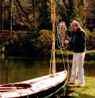 Martin Neville with his Humber Yawl in the Cotswolds