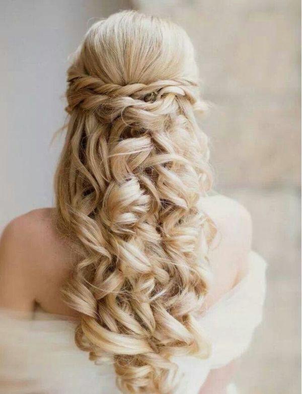 Hairstyles wedding half updo short