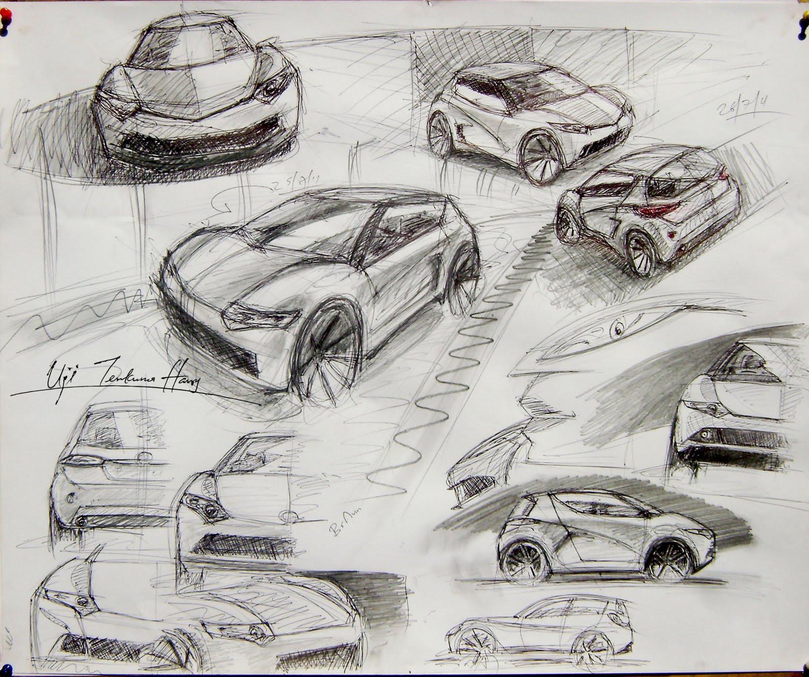 Car Sketches   Uji Harry Designs
