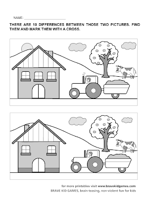 Spot The Difference Printable Worksheets For Kindergarten ...