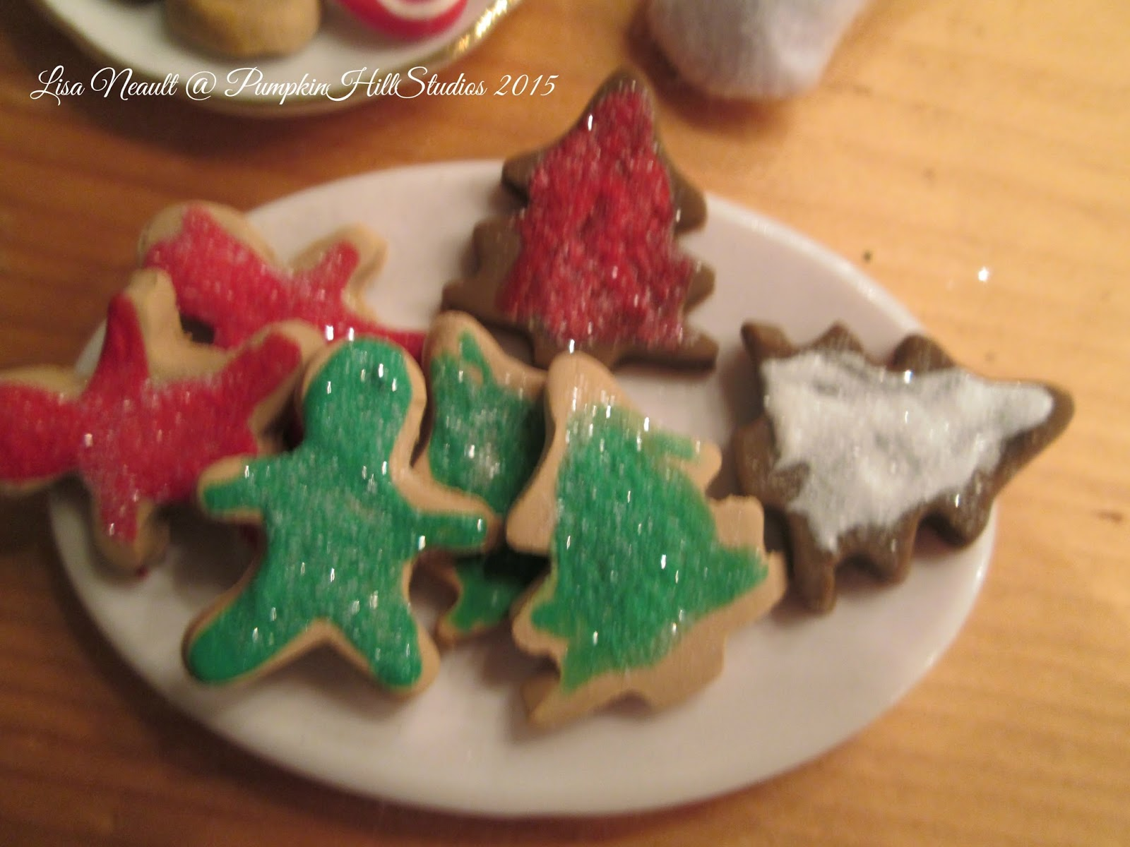The One Sixth Scale Dollhouse Christmas Cookies Santa S Candy