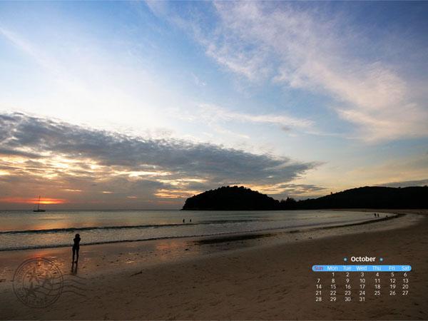 แจกปฏิทิน desktop (วอลล์เปเปอร์) เดือนตุลาคม 2555