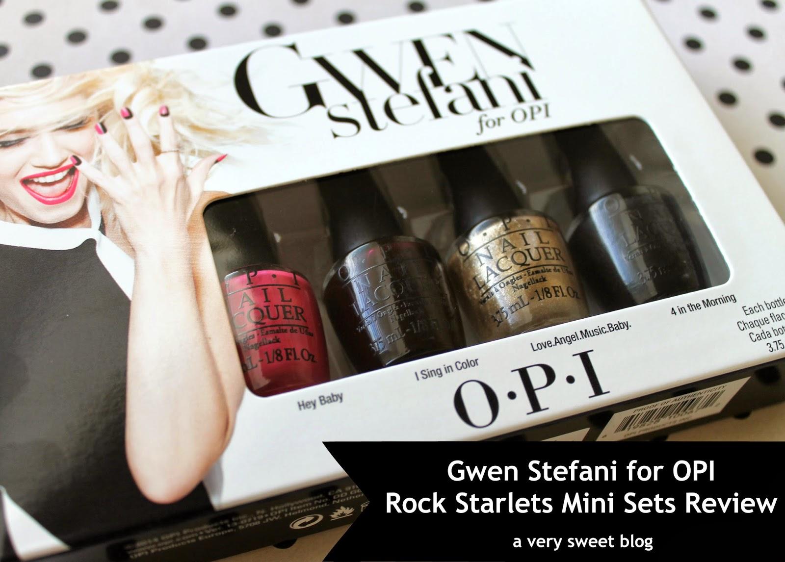 Gwen Stefani For OPI: Rock Starlets Mini Sets Review | A Very Sweet Blog