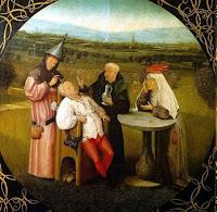 A extração  da pedra da loucura. Hieronymus Bosch. 1480. Museo del Prado Madrid España