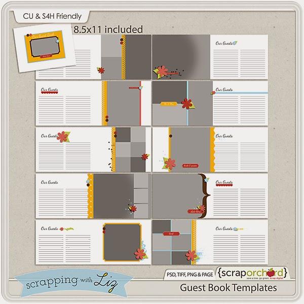http://scraporchard.com/market/Guest-Book-Digital-Scrapbook-Templates.html