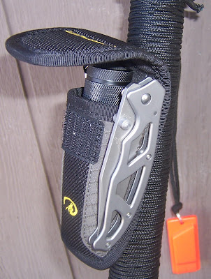 Walking Stick Versatility Survival%2BStick%2B_%2BAccessory%2BPouch%2Bwith%2BKnife%2BAttached%2Bto%2BPouch