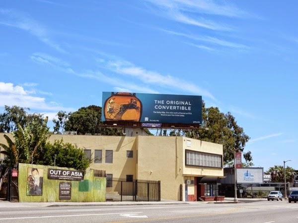 Original Convertible Getty Villa billboard