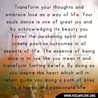 Transform your thoughts and embrace love