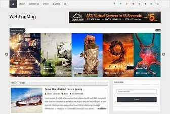Web Log Mag Responsive Blogger Template