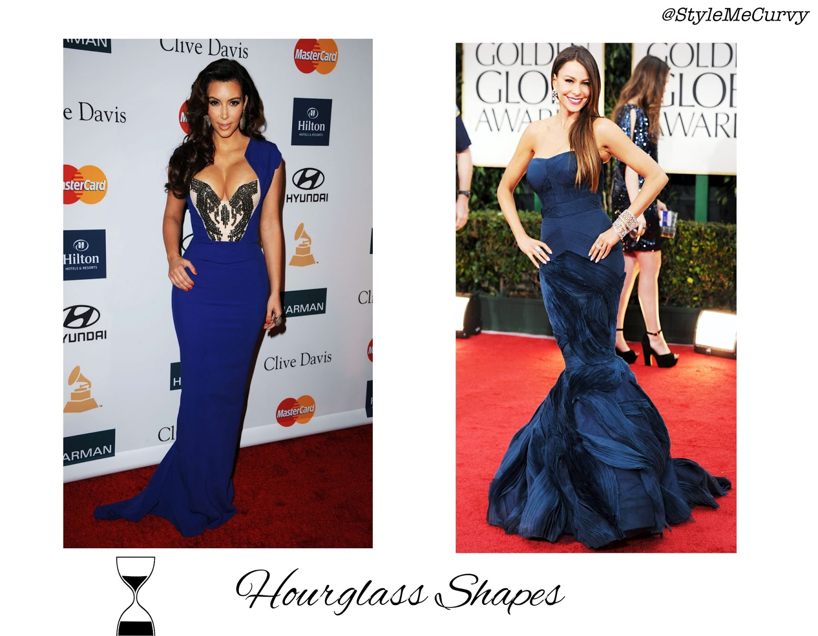 Hourglass Celebrities Kim Kardashian and Sophia Vergara