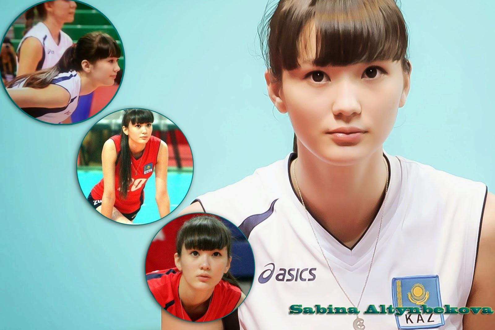 Sabina Altynbekova Pemain Voly Cantik Kazakhstan